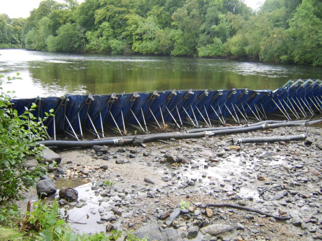 River Crossing Using A Portadam Onsite Onsite